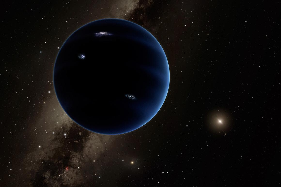 An artist's rendering of the hypothetical Planet Nine