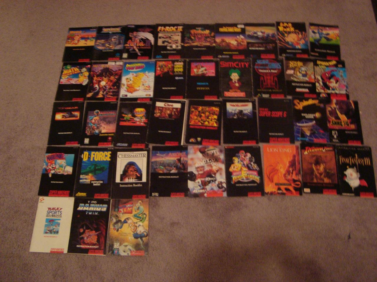 Part of the $25,000 SNES collection's boxes