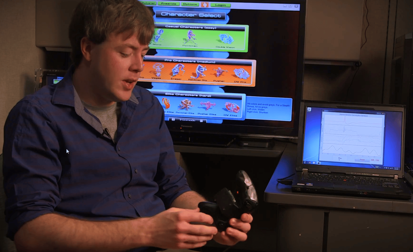 Stanford's prototype game controller senses player engagement and can alter games to suit them