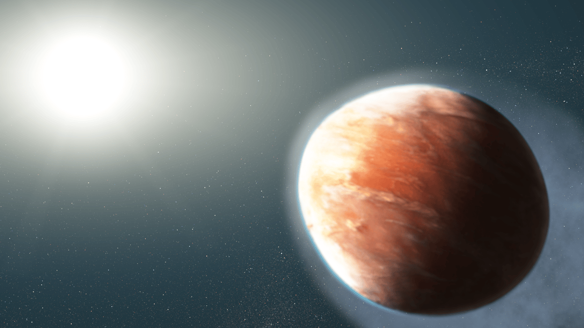 WASP-121b is an exoplanet sobroiling hot that it's venting vaporized iron into space, and being pulled into a football shape by the intense gravity of its host star
