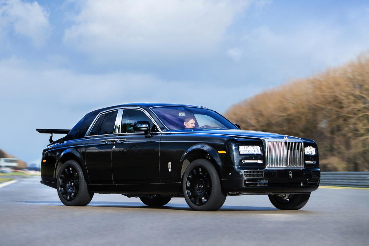 The Phantom Series II-based engineering mule is being used to develop Project Cullinan's AWD suspension