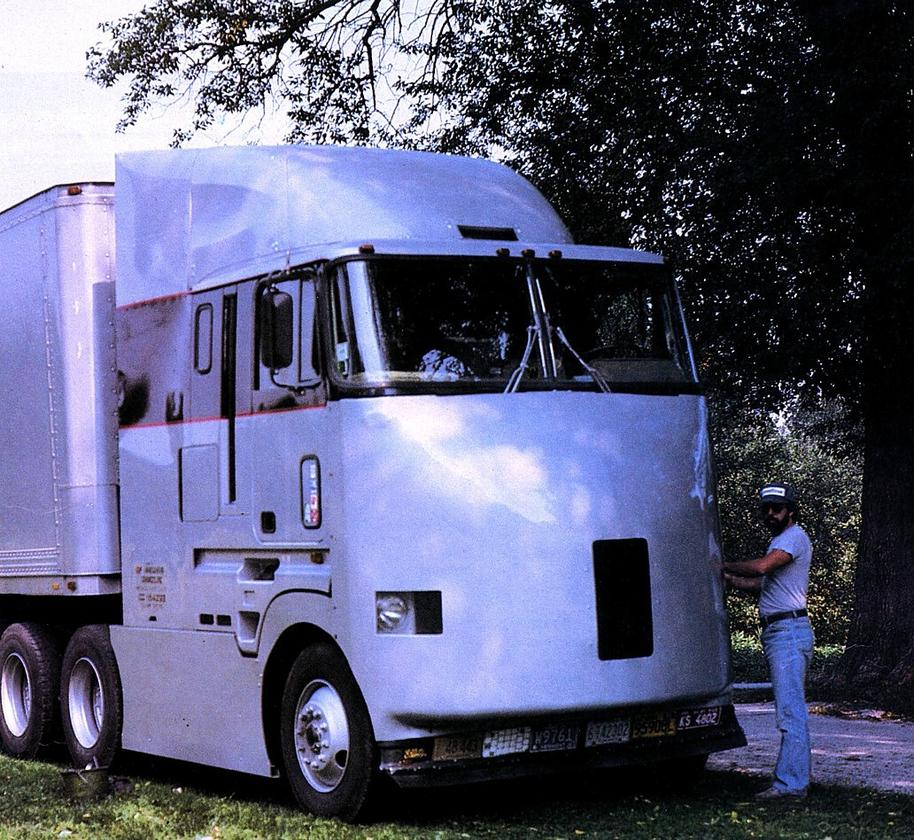 The first generation aerodynamic cabover prototype developed by AirFlow Truck Company