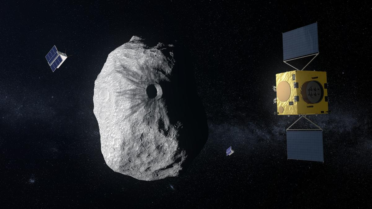 The Hera mission includes an orbiter and a pair of CubeSats