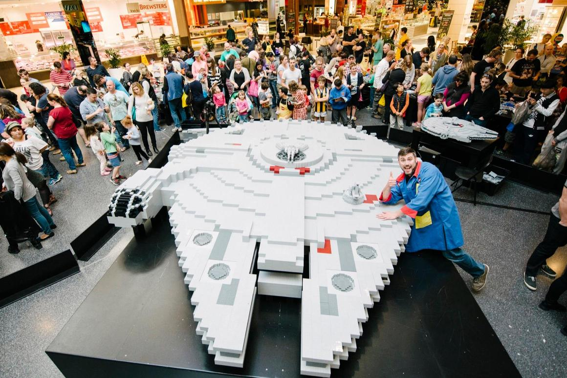 More than 200,000 Lego bricks were used to build the model