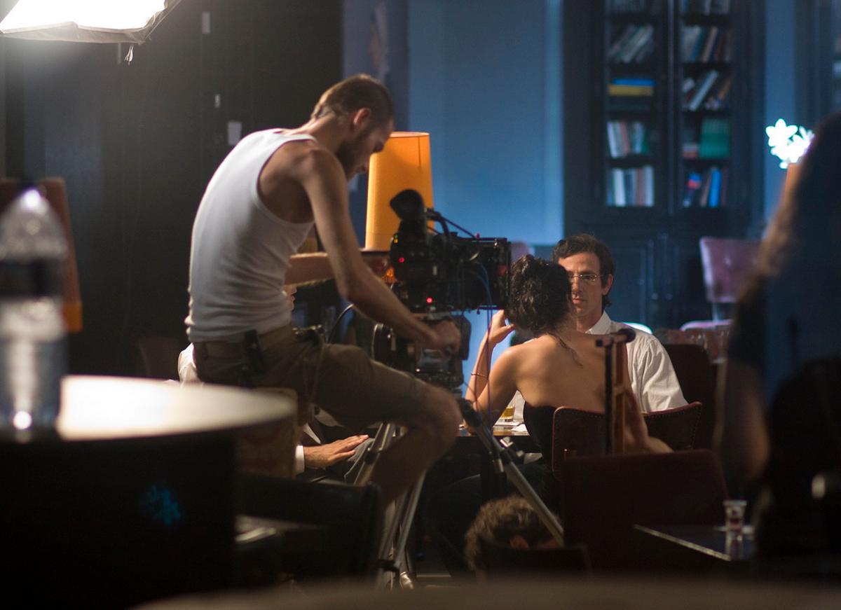 On the set of Turbulence (Photo: Tel Aviv University)