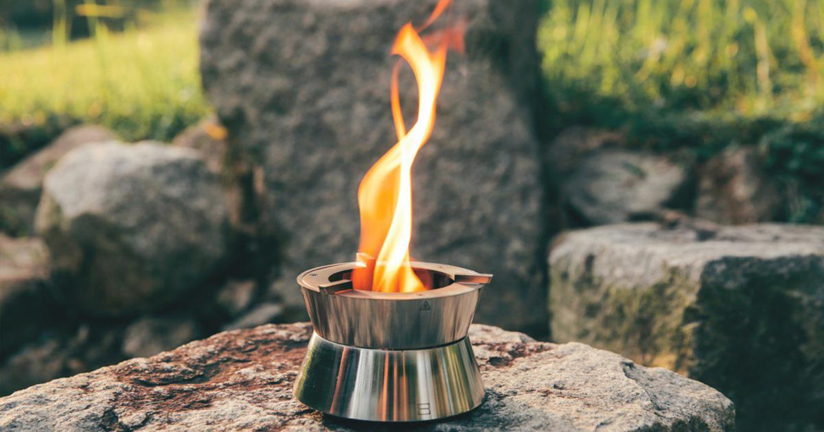 Pocket-sized camping stove creates a clean vortex of fire