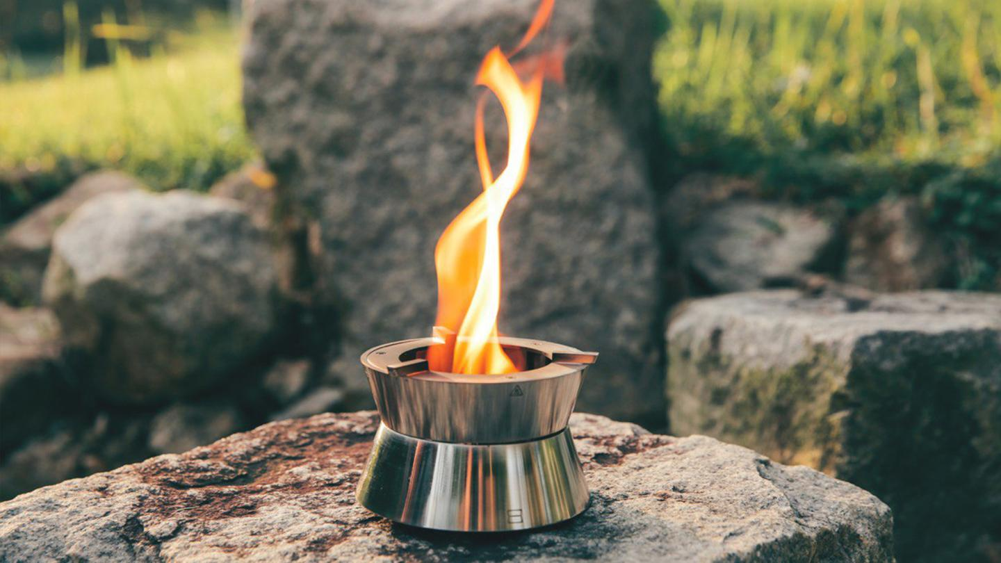 Ember is designed to work with solid fuelrather than gas