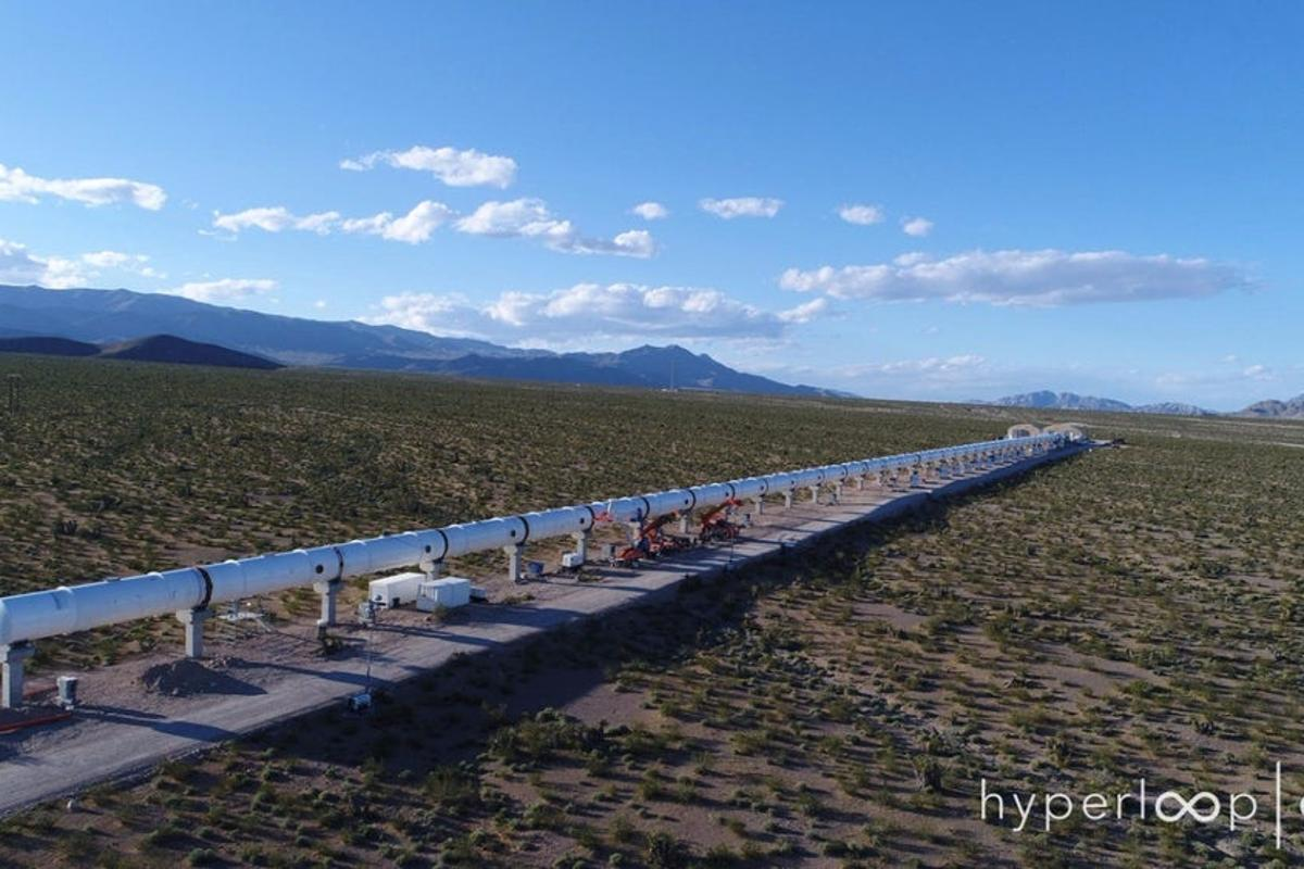 A Hyperloop system would shuttle people and cargo through near-vacuum tubes at around the speed of sound