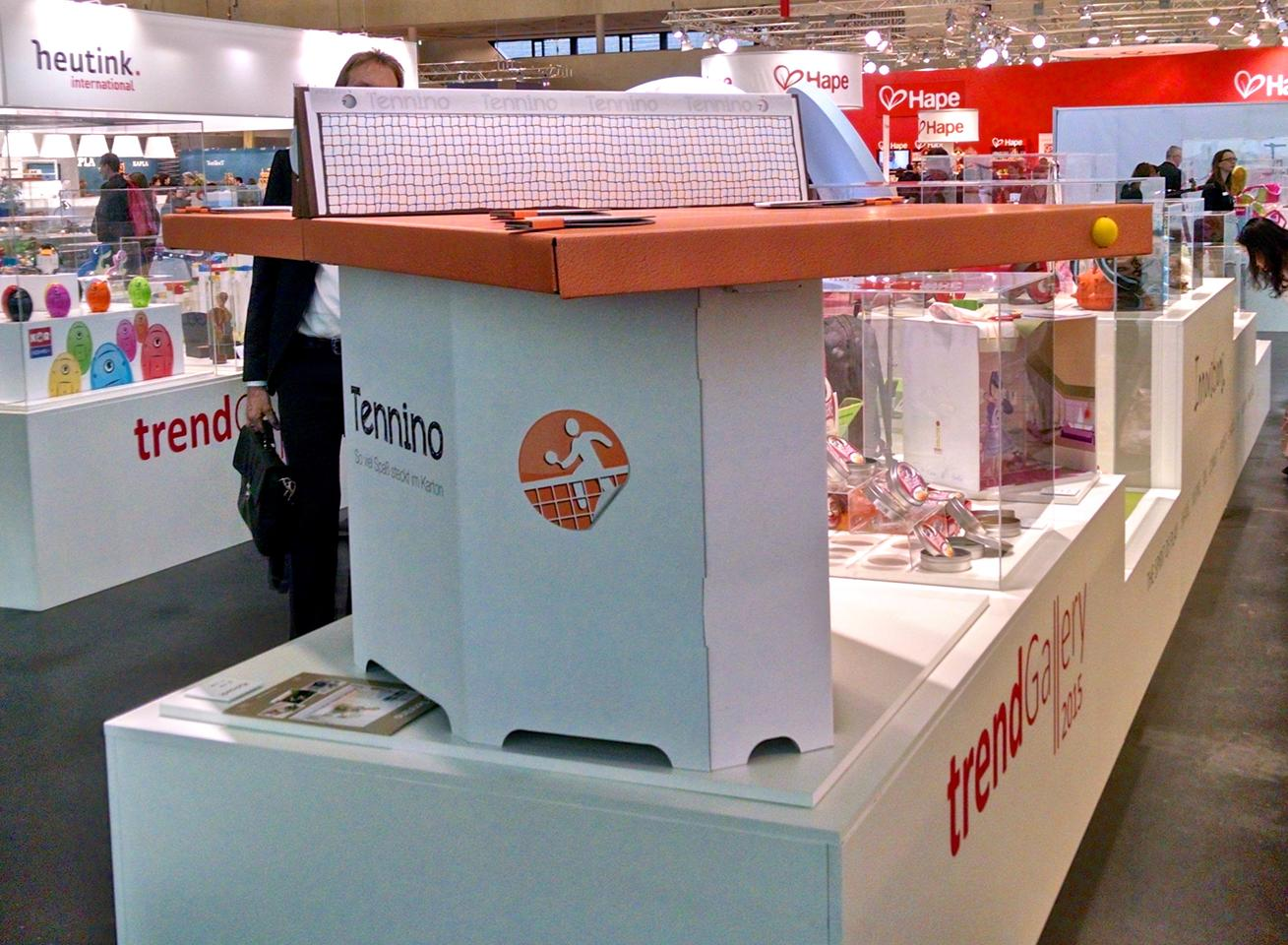 Tennino on display at the 2015 Nuremberg Toy Fair Trend Gallery (Photo: C.C. Weiss/Gizmag)