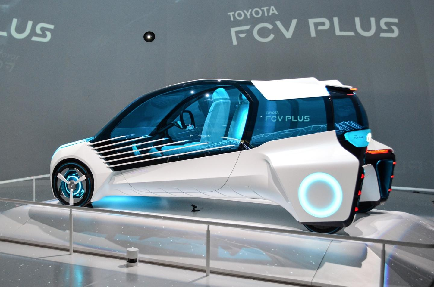 Toyota's vision for the car includes the ability to hook it up to an external hydrogen source so it can be used to power the home