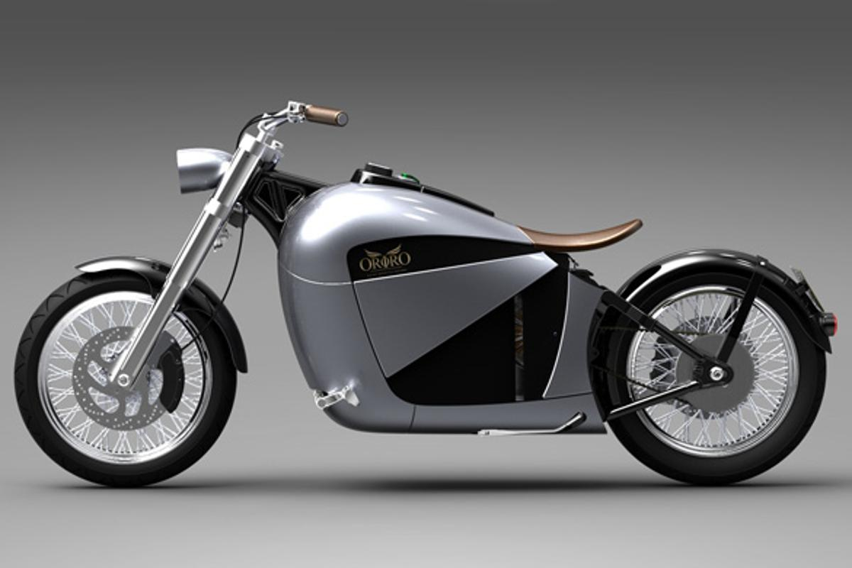 The Orphiro electric cruiser, which is said to have a top speed of 75 mph and a range of 60 miles, and is set for a September launch