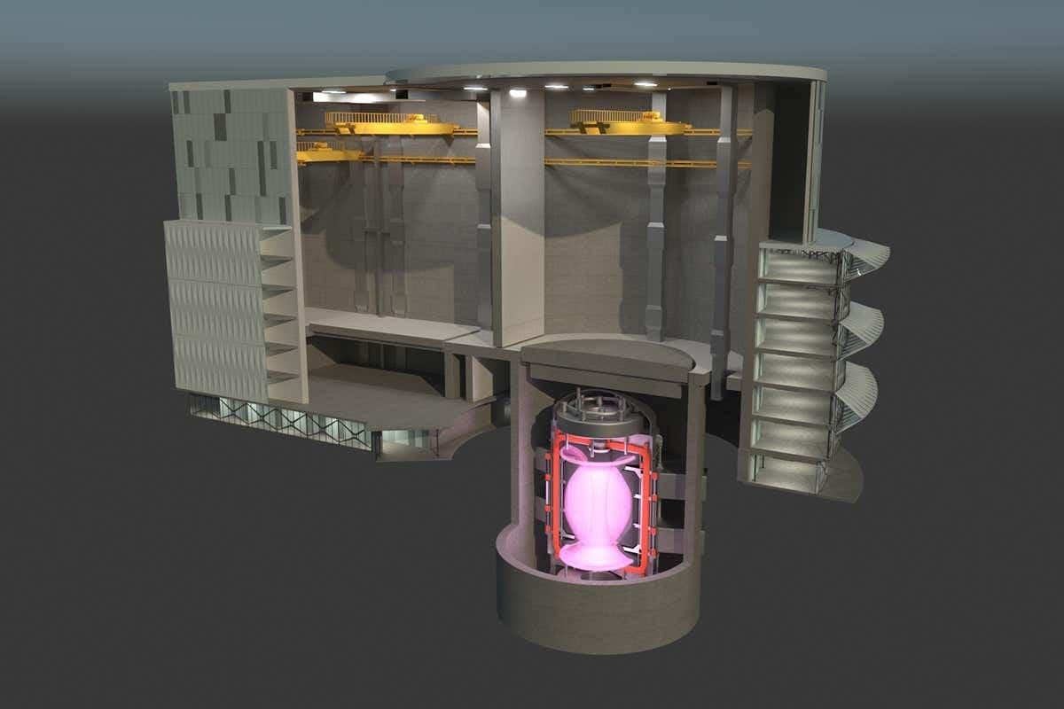 Artist's concept of the STEP fusion reactor