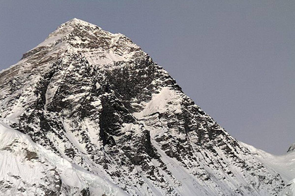 The view of Mount Everest provided by the world's highest webcam