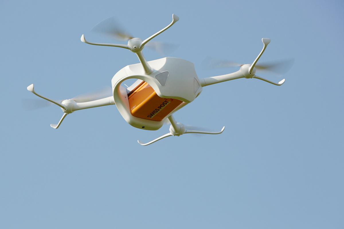 One of the Matternet ONE drones being tried out by Swiss Post