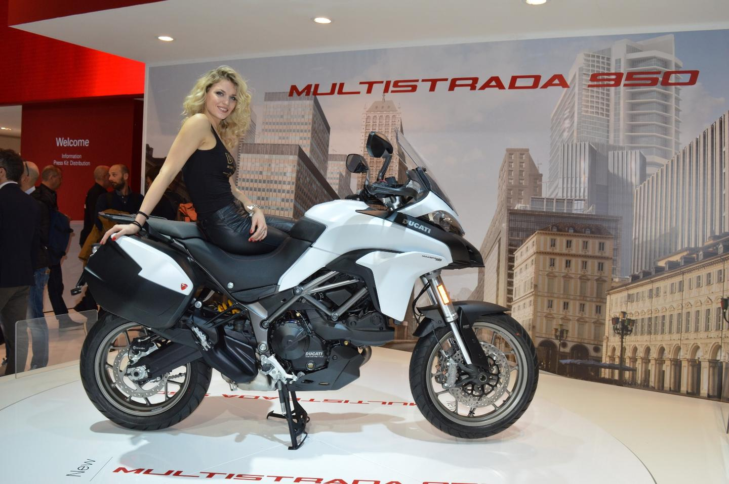 The Multistrada 950 on display at EICMA 2016