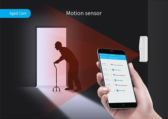 The S1 system comes with a motion sensor