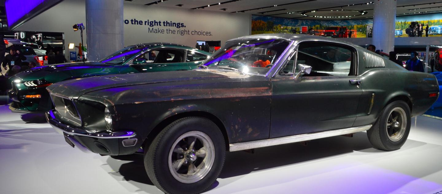 The 1968 Ford Mustang GT 390 drivenby Steve McQueen in the iconic chase from the movieBullitt