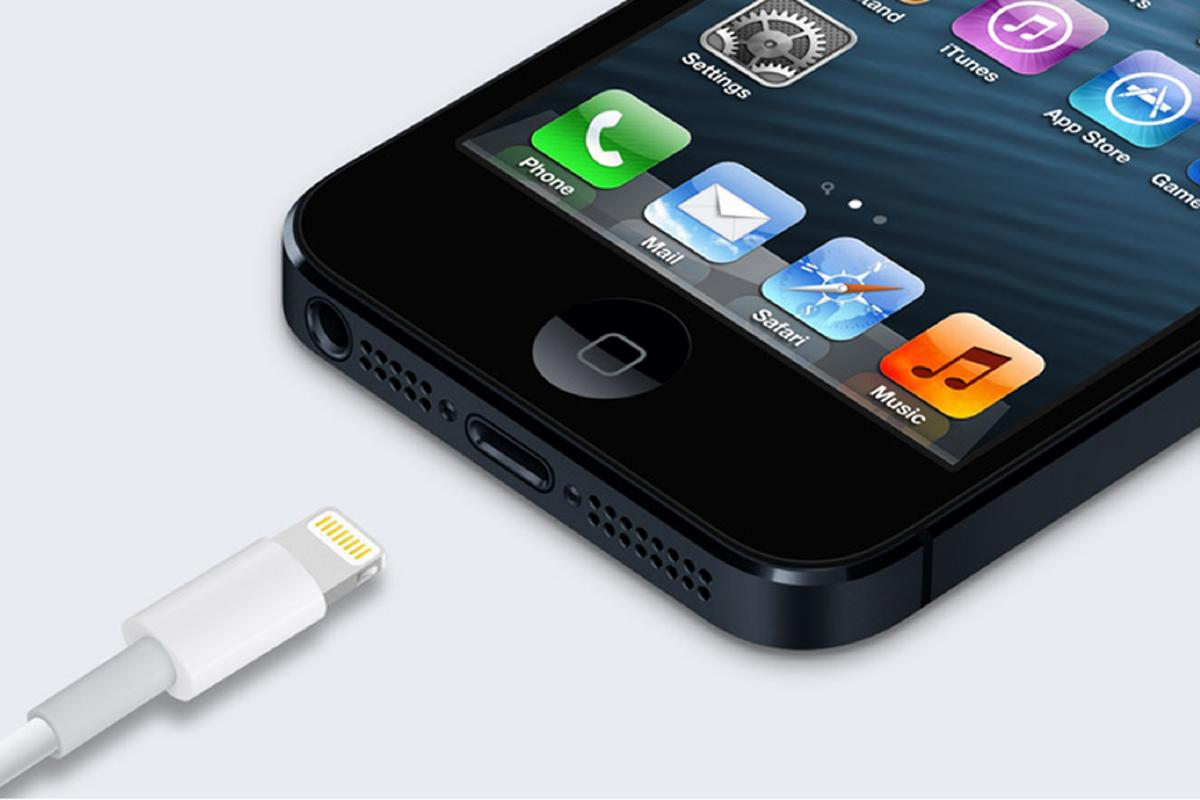 The new Lightning connector introduced on the iPhone 5 and updated iPod touch and iPod nano