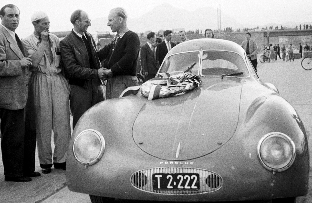 Otto Mathé purchased it directly from Porsche in 1948 and became the only person to race a Type 64 in period, winning countless races in the late 40s and early 50s