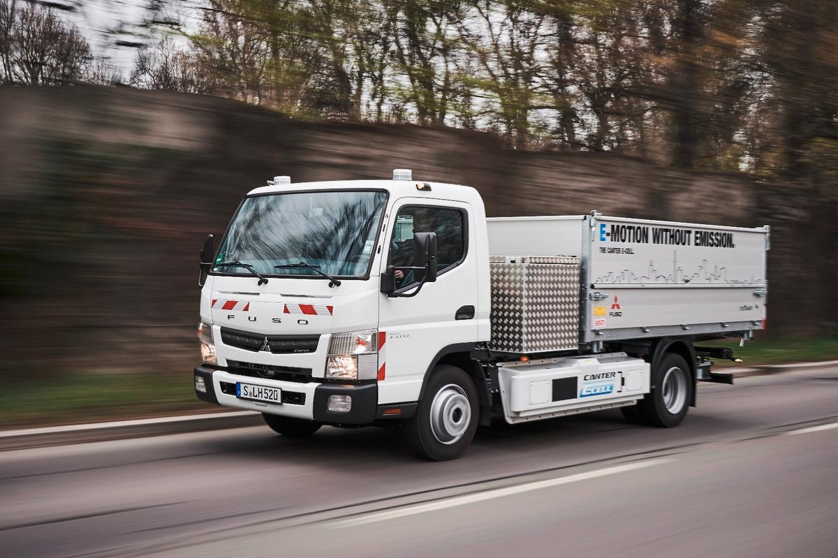 Having demonstrated the savings available to buyers in Portugal, Daimler is running a test of its E-Cell Fuso trucks in Stuttgart