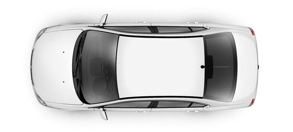 Placing the batteries at the bottom of the car's frame allows for 14.7 cubic feet of trunk storage