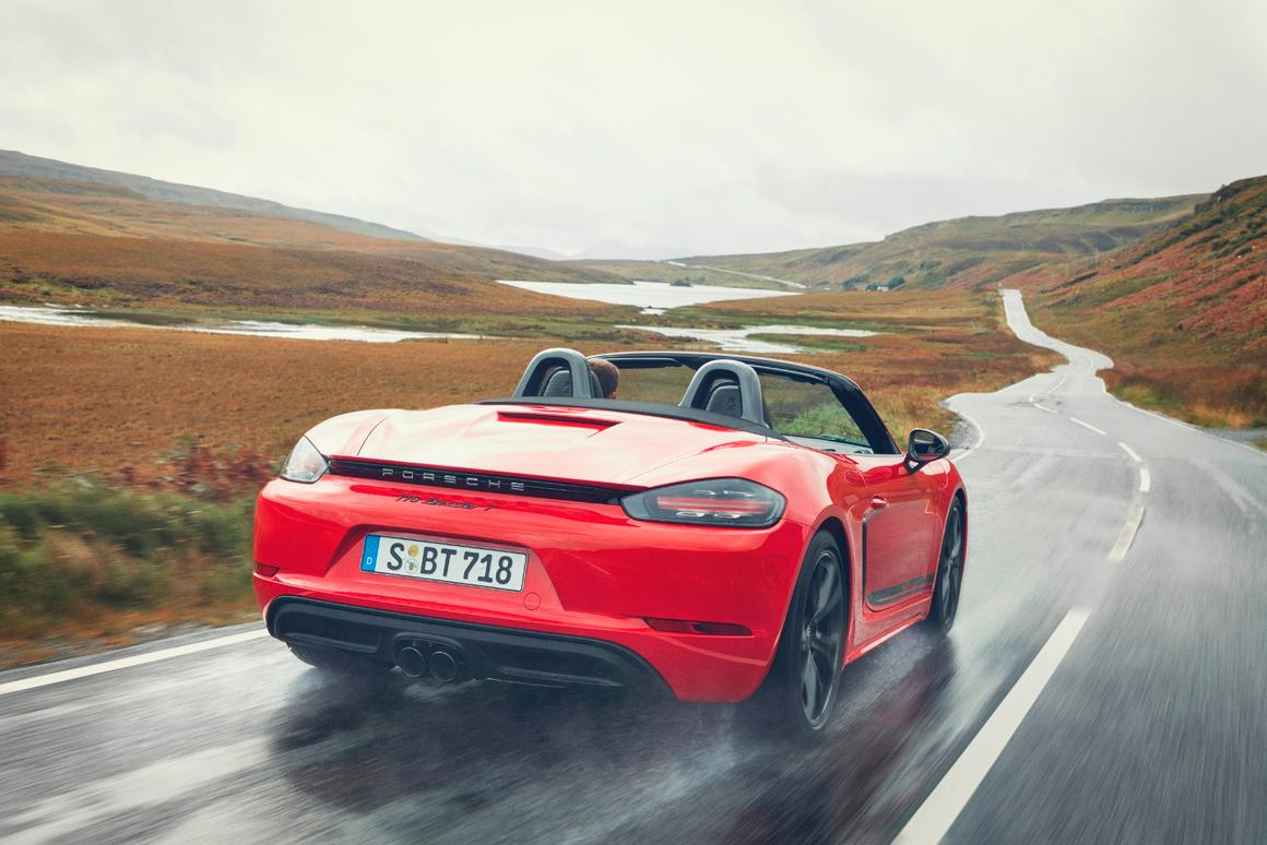 The Porsche 718 T Boxster is a hard-driving version of Porsche's most accessible performance sportscar
