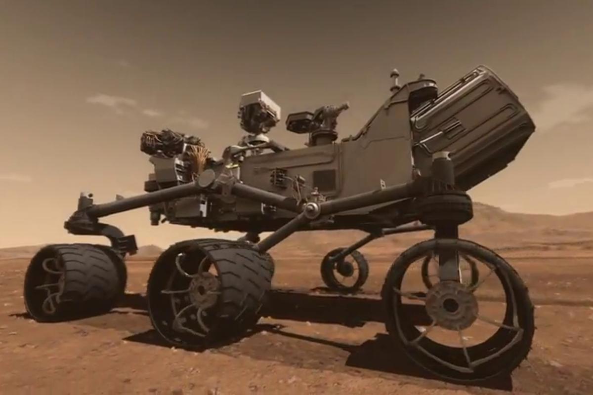 Artist's concept of Curiosity on the move (Image: NASA/JPL-Caltech)