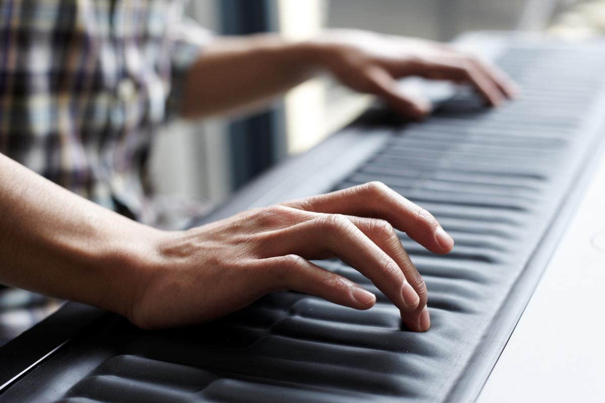 Technology start-up ROLI recently revealed the Seaboard GRAND, a piano-style keyboard that features flexible keys for adjusting each note in real-time (Photo: Lambde Ltd. 2013)