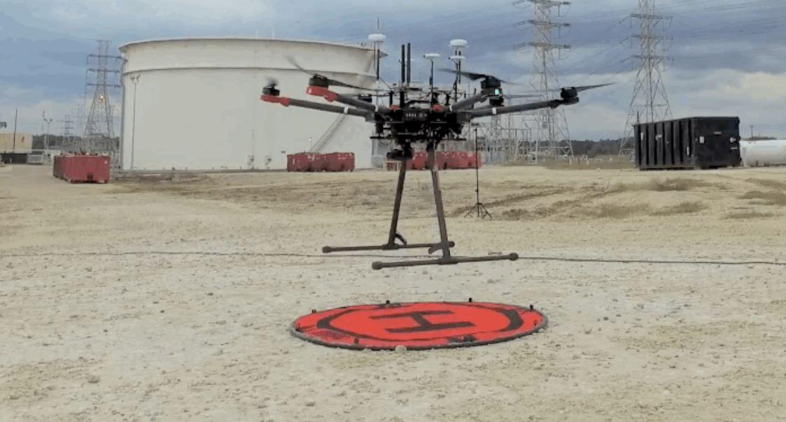 Drones and robots could be used to inspect flame stacks without shutting down production at oil refineries