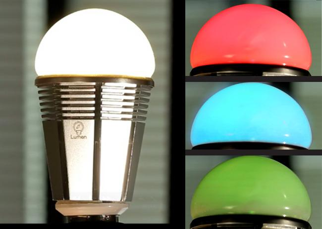 The Lumen is a RGBW LED, and besides the usual red, green and blue colors, it also features a 6W white LED