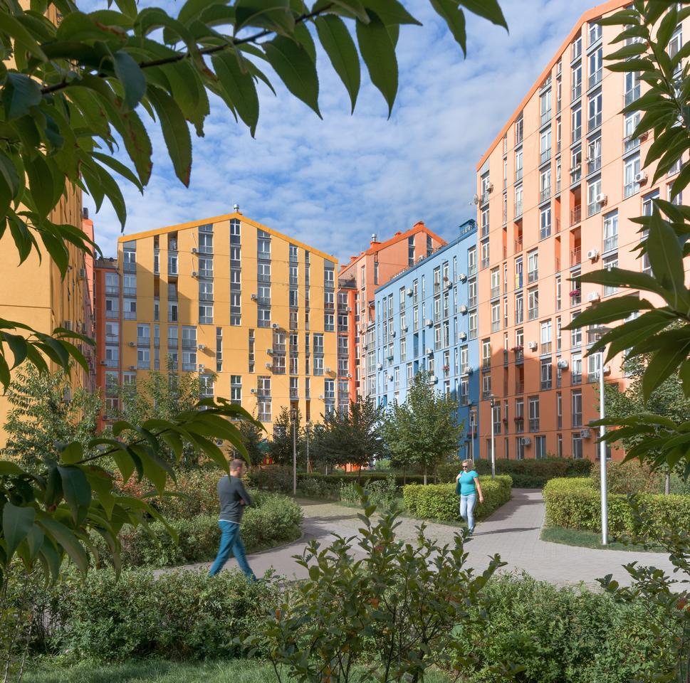 Archimatika won the Use of Colour Prize for its vibrant Comfort Town housing development in Kiev, Ukraine