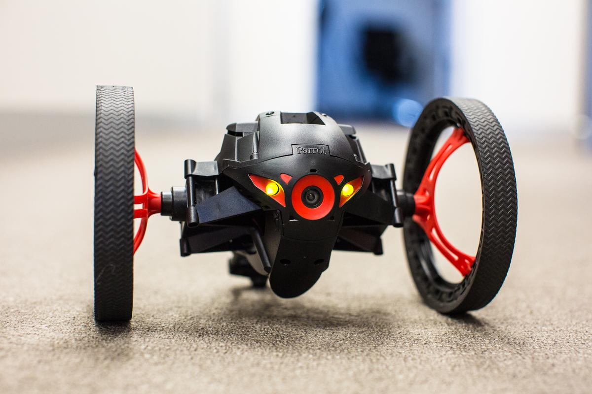 With a camera built into its front, Parrot's Jumping Sumo minidrone can quite a useful tool for reconnaissance (Photo Gizmag/Nick Lavars)