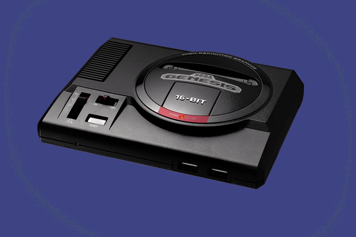 The Sega Genesis Mini is a retro console thatcomes with 40 games pre-installed