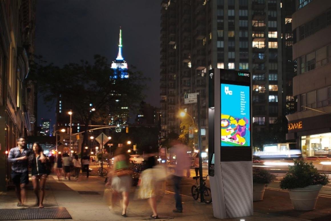 New York city has reimagined its pay phone network as free gigabit Wi-Fi hub complete with touch screens and free telephone calls (Image: LinkNYC)