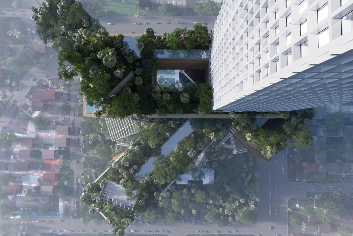 MVRDV's design for Peruri 88 is a re-imagining of the city of Jakarta, 400 meters tall (Image: MVRDV)