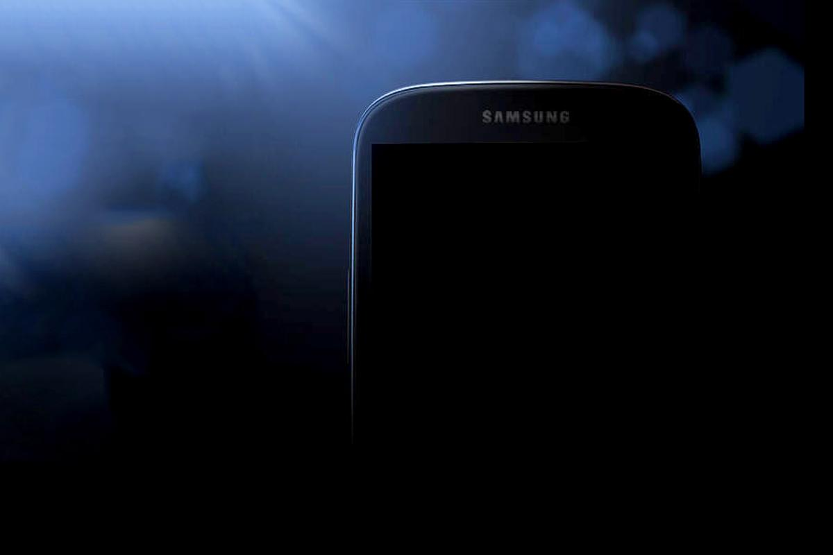 Samsung accelerated the hype for the Galaxy S IV event with the first official (shadowy) image of the handset