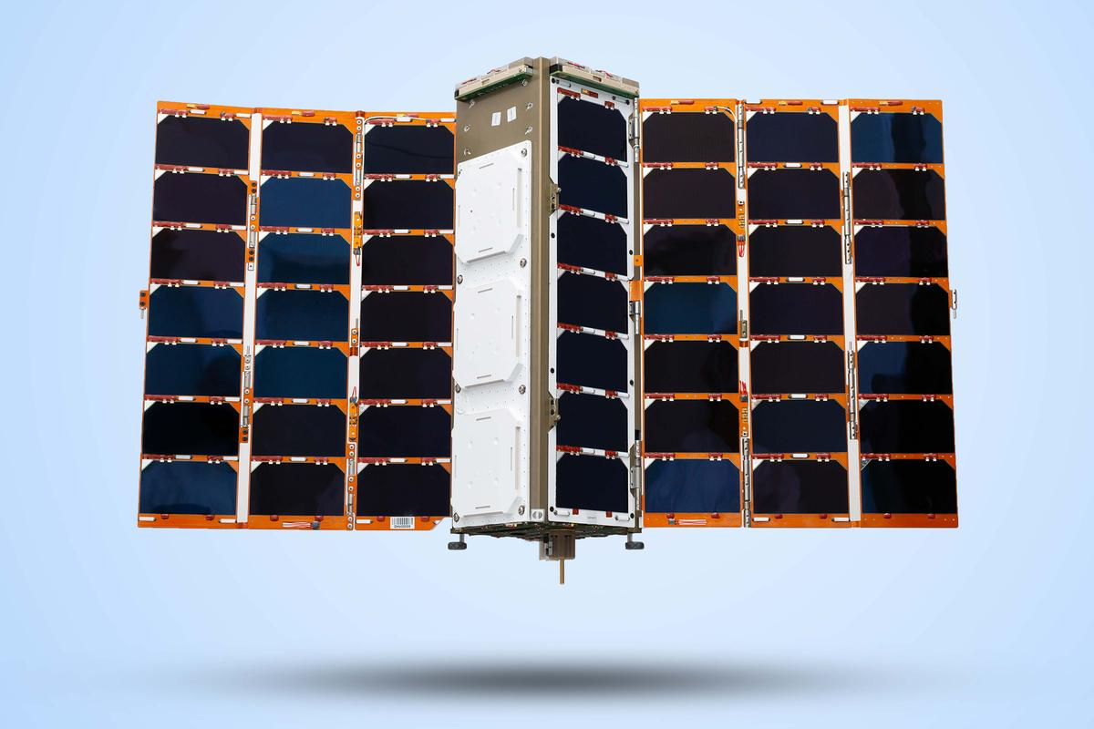 The nanosatellite built by Spire Global UK that will enable accurate predictions of ship movements