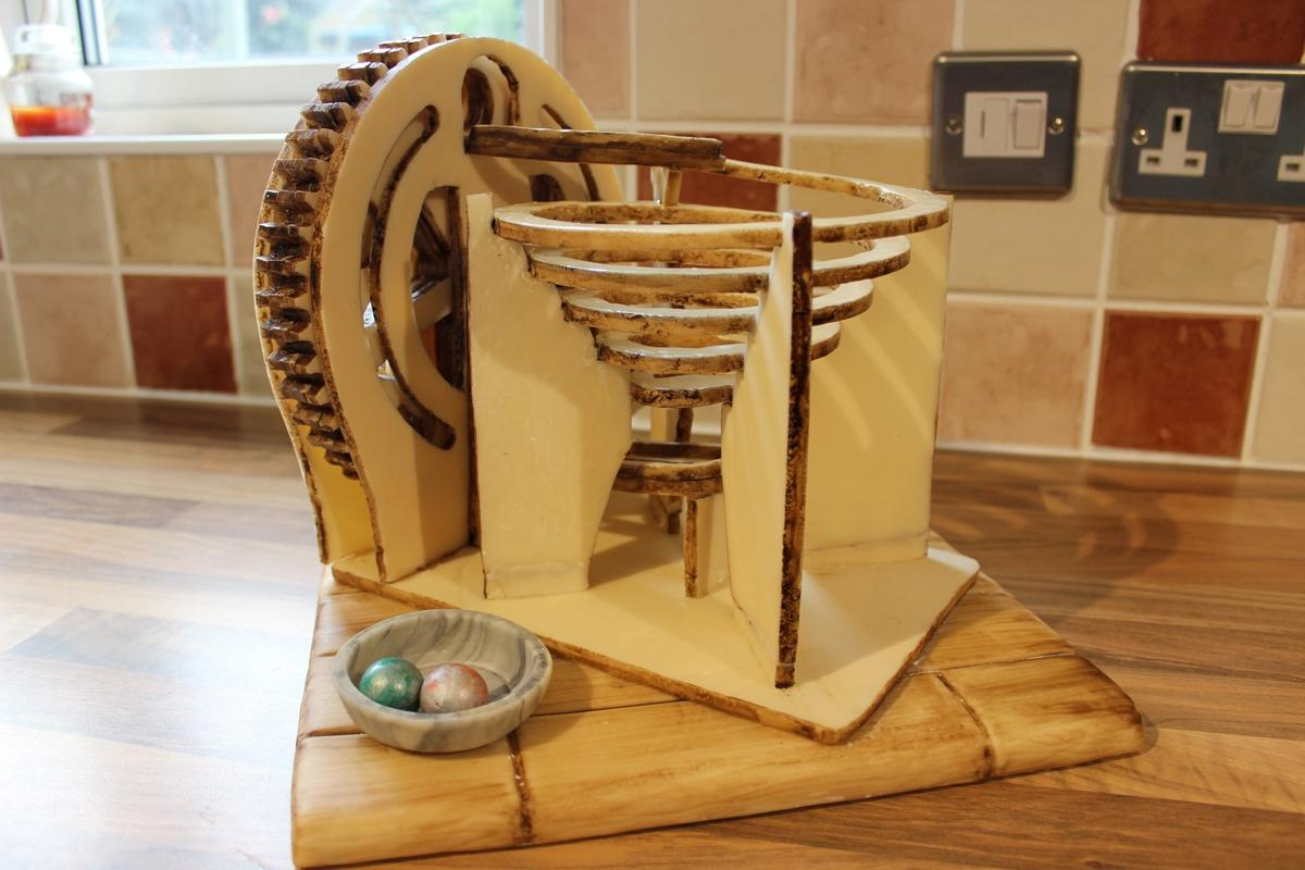 Even the marbles used for The Edible Marble Machine can be eaten