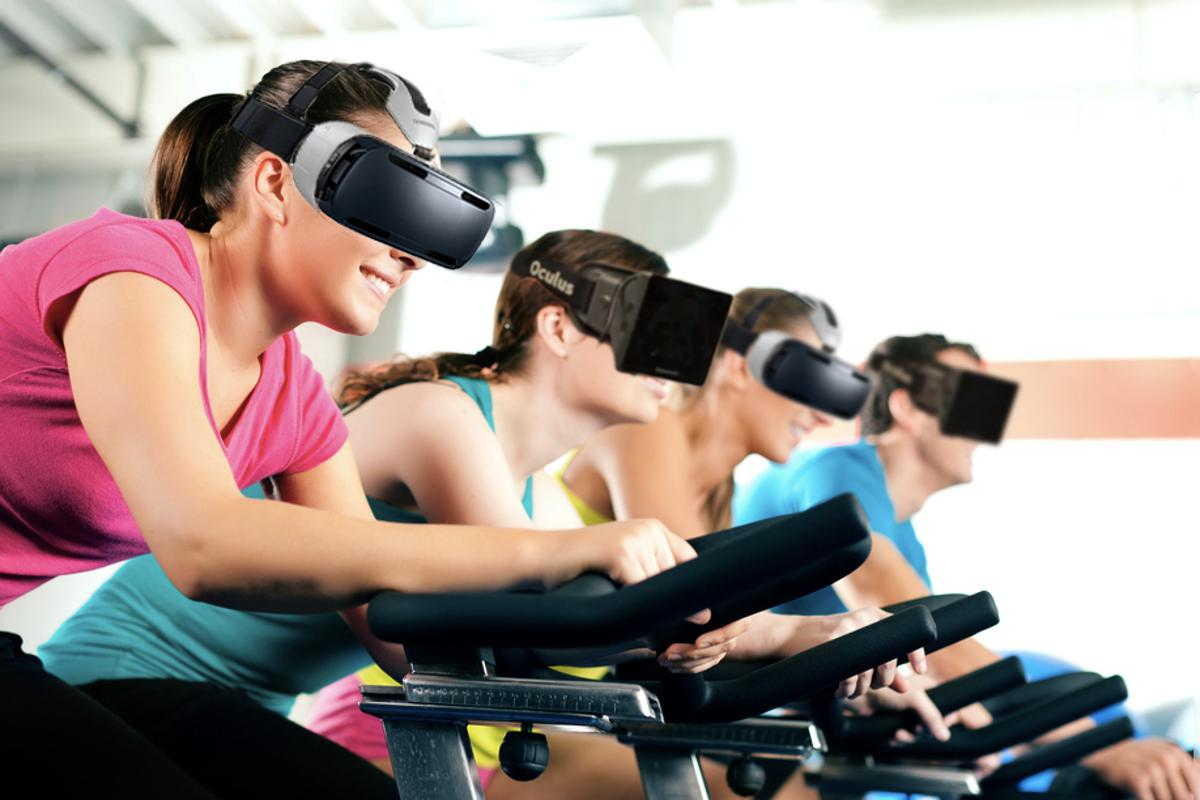 One day virtual reality and exercise bikes could team up to spice up your workout (Original: Kzenon/Shutterstock)