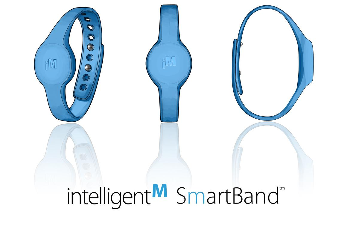 The intelligentM bracelet monitors the hand-washing activities of healthcare workers, to make sure that they're doing it properly and frequently enough