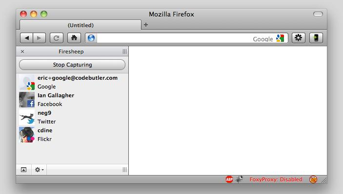 The Firesheep add-on for Firefox