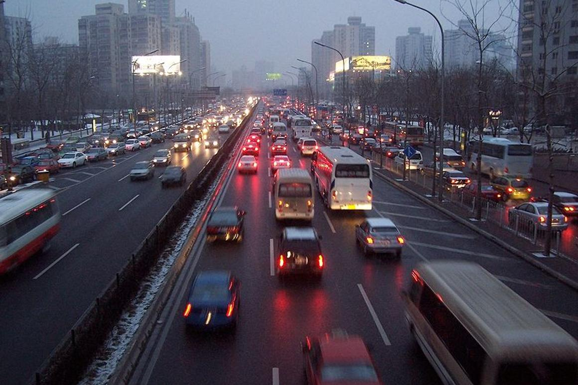 Traffic on the streets of Beijing, the worst offender on the index