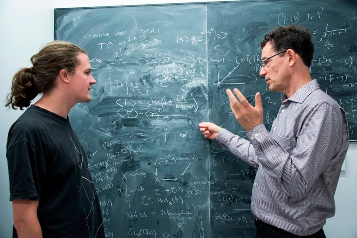 Dr. Gielen (left) and his partner on the paper, Neil Turok of the Perimeter Institute for Theoretical Physics
