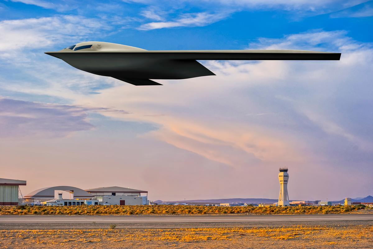 Rendering of the B-21 Raider strategic bomber