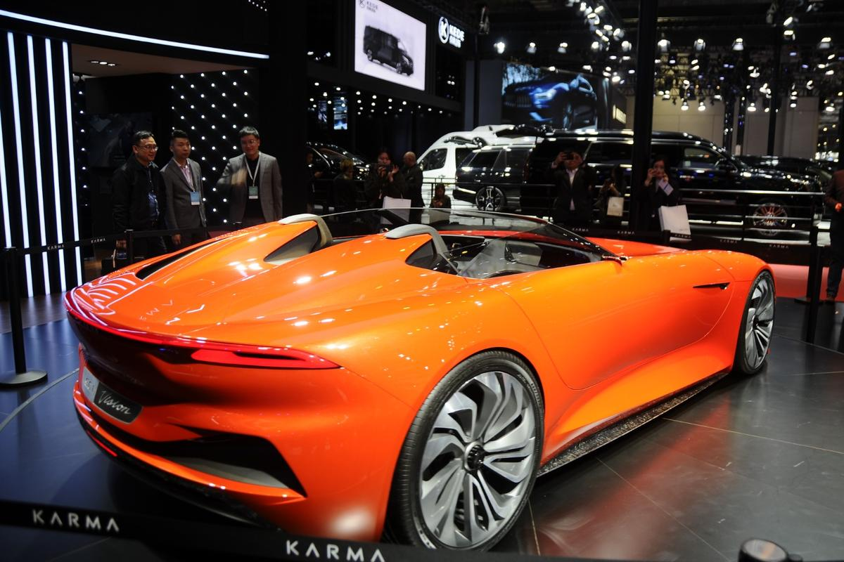 The Karma SC1 Vision Concept at Auto Shanghai 2019