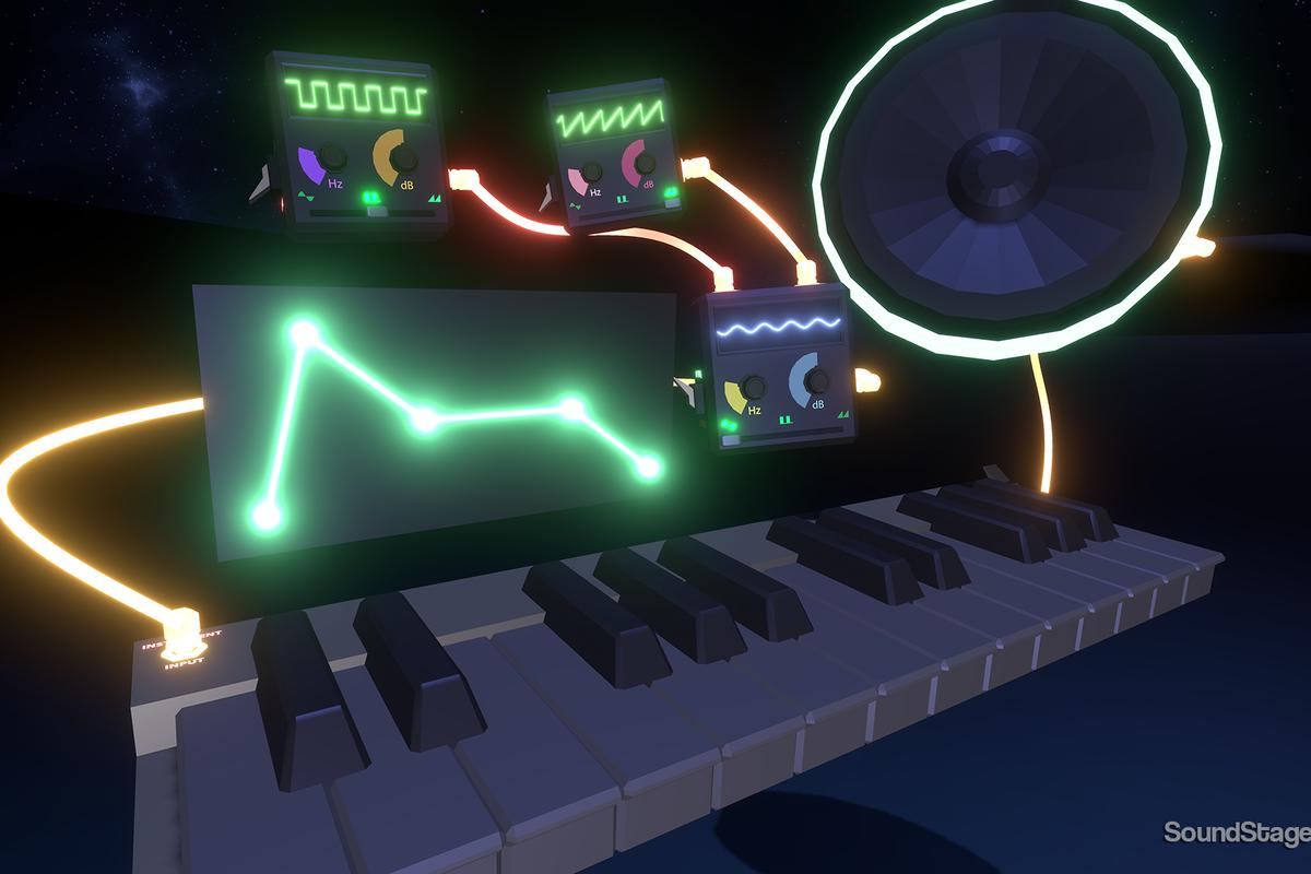 SoundStage is a virtual reality music studio program