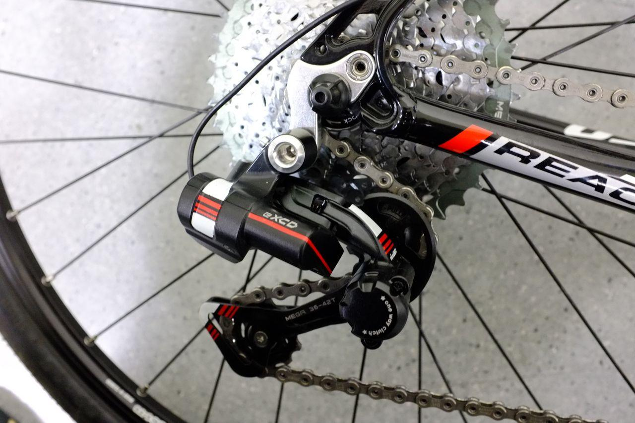 The eXCD rear derailleur – the system doesn't incorporate a front derailleur