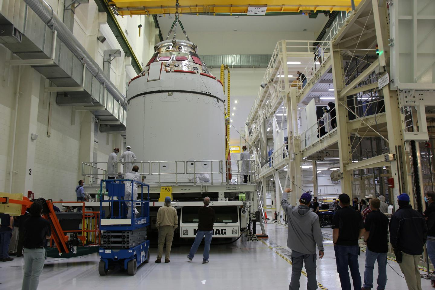The Orion spacecraft at the Kennedy Space Center
