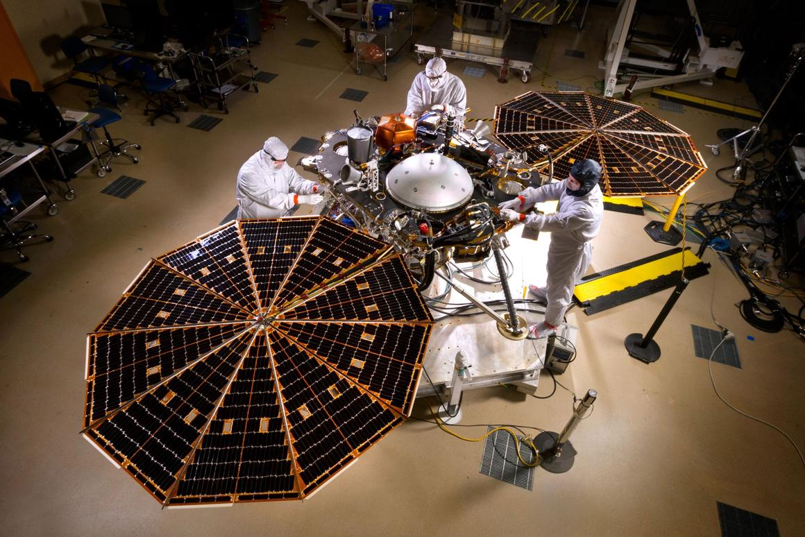 The fully-constructed InSight lander
