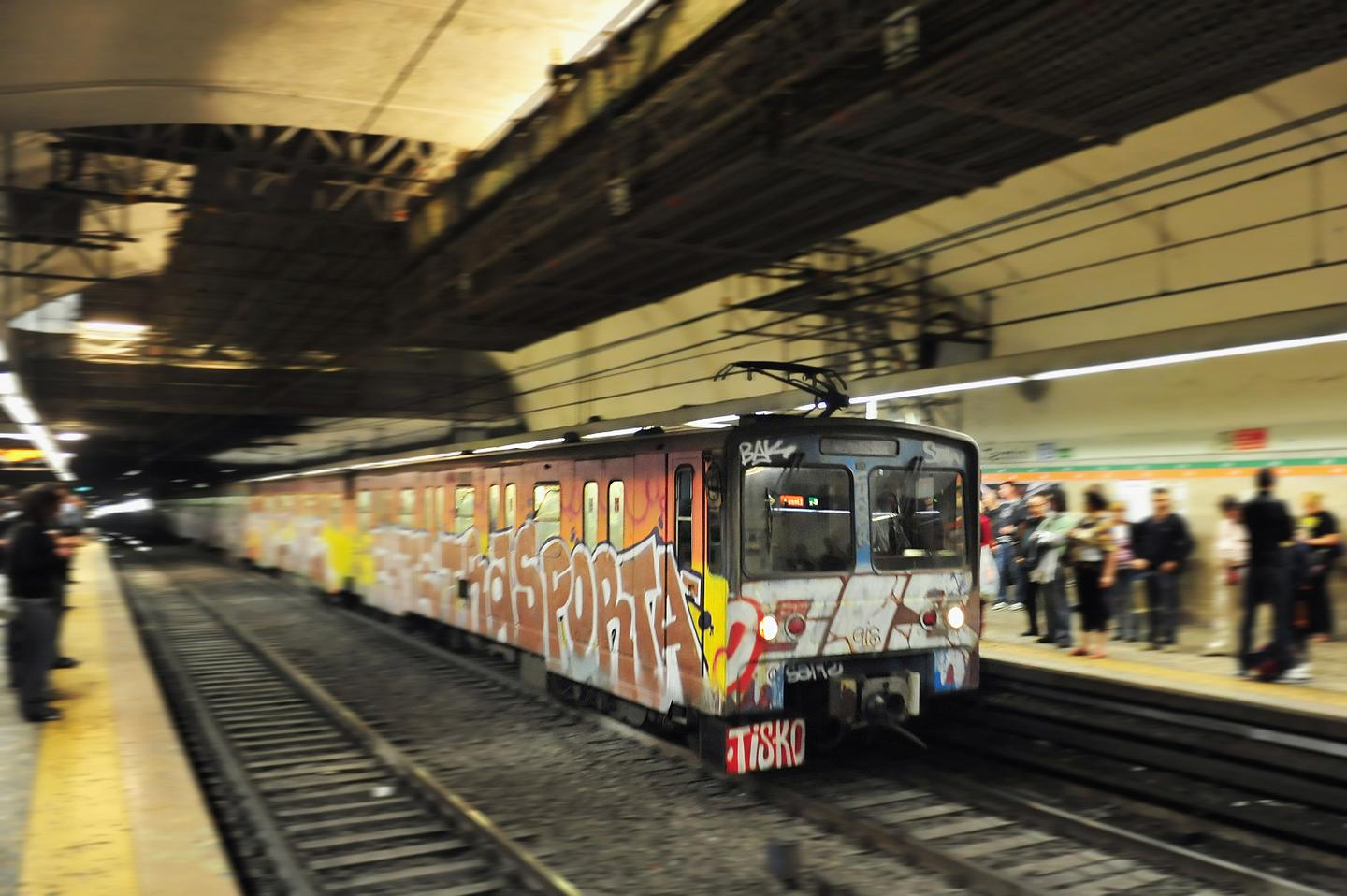 Mousetrap technology is being used to stop graffiti vandalism of trains (Photo: Shutterstock)